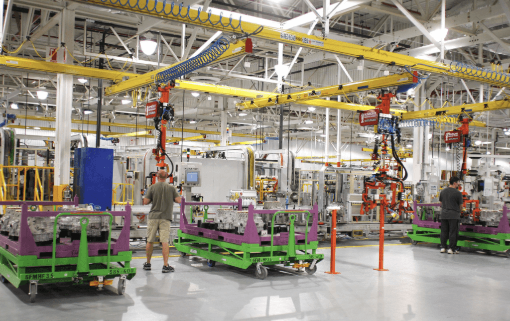 Large-scale manufacturing industry.